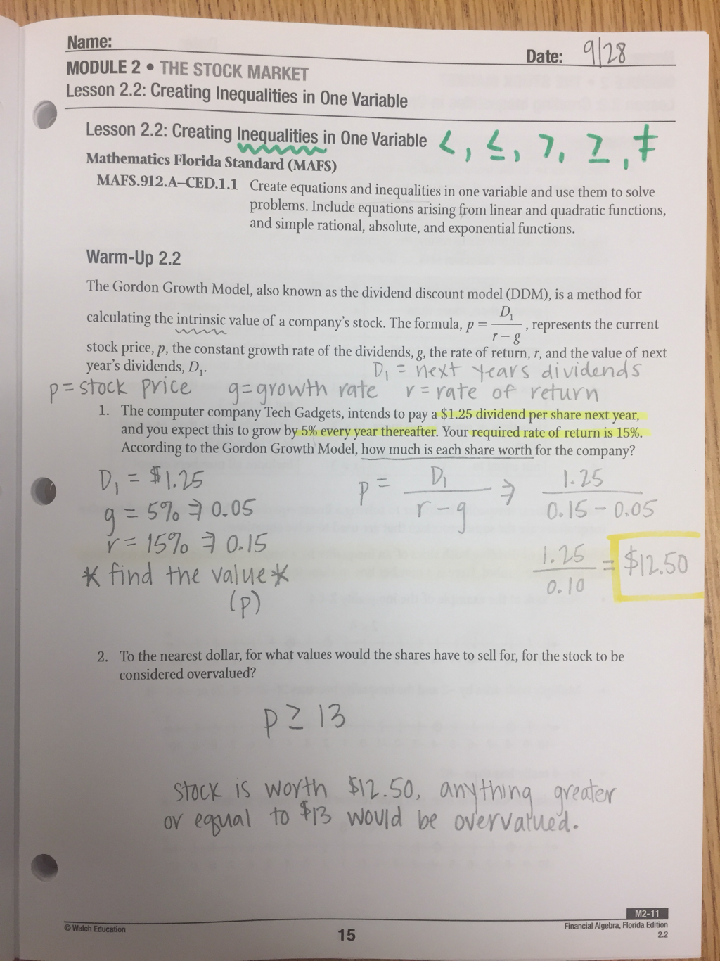 Category: Financial Algebra - AHS Math